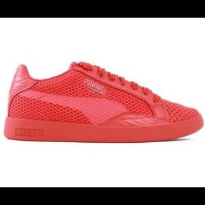 NEW $110 PUMA Match Lo Stutter Stripe Shoes Red